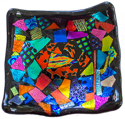 Example of dichroic glass
