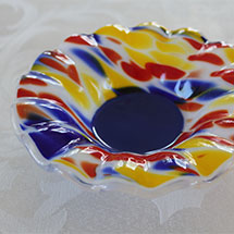 Multicolored fluted bowl alt