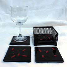 Black and red coasters alt
