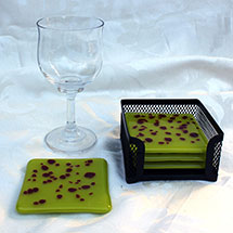 Chartreuse and red coasters alt
