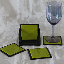 Chartreuse and black coasters alt