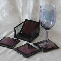 Black and purple coasters alt