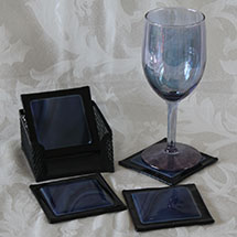 Black and dark blue coasters alt